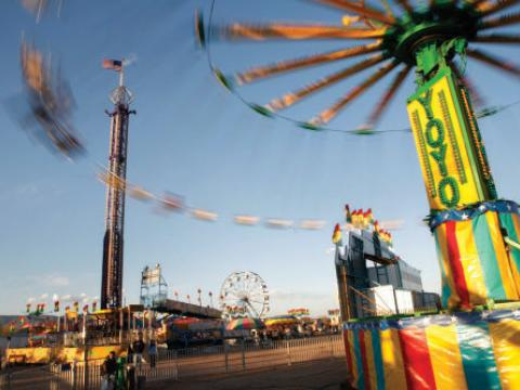 Thrilling midway rides at the Canon City Blossom Festival Carnival