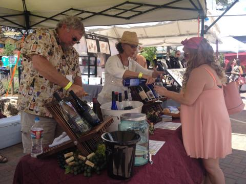Tasting samples from more than 20 Colorado wineries at the Estes Park Wine Festival