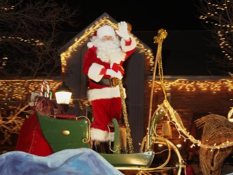 Ushering in the holiday season in Estes Park at the Catch the Glow Christmas Parade