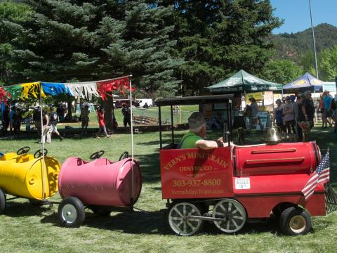 Festlichkeiten bei den Strawberry Days in Glenwood Springs